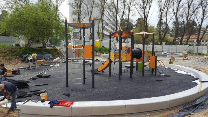 Mun. de Porto/ Portugal: Parque Infantil do Jardim Imaginário está quase pronto
