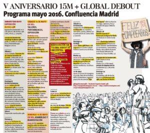 """Feier des fünften Jahrestages der spanischen """"Empörten"""" zusammen mit """"Nuit Debout"""""""