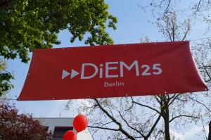 DiEM25 am MyFest in Berlin
