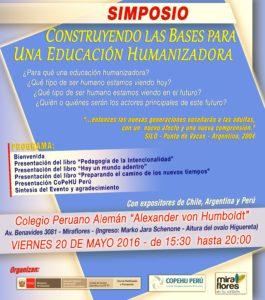 Simposio para construir las bases de una educación humanizadora