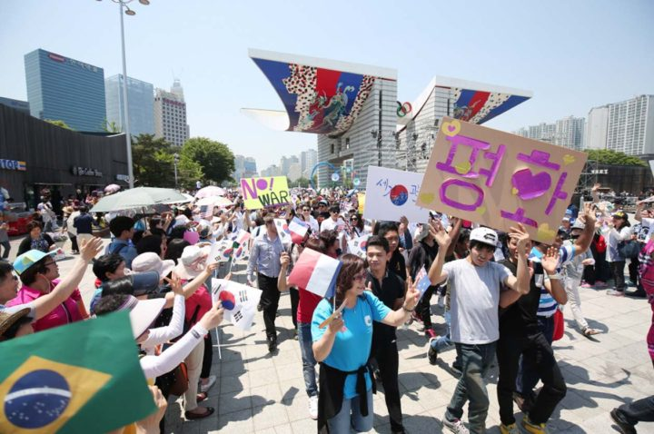 United youth voice demands for peace in South Korea