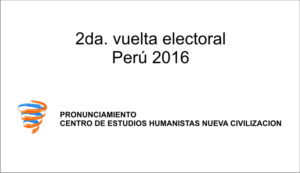 Segunda vuelta electoral – Perú 2016