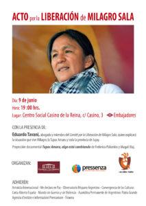 Pedirán liberación de Milagro Sala en Madrid