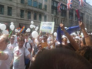 Gay Pride in London: welcome relief from EU troubles