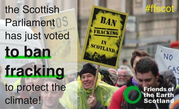 The Scottish Parliament declares: 'No ifs, no buts, no fracking'