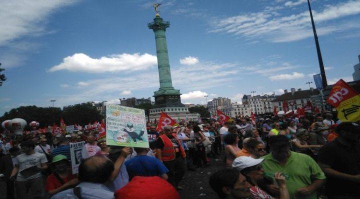 Demonstration in Paris gegen Loi Travail: eine Fotoreportage