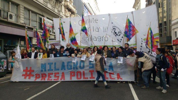 Piden justicia y libertad para Milagro y tupaqueros detenidos, ante Ministerio de Justicia