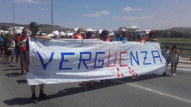 Carovana per la Grecia, protesta a Idomeni