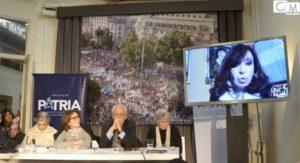 """Cristina Kirchner: """"Les quieren arrebatar el derecho a ser iguales para eso necesitan tener a Milagro presa"""""""