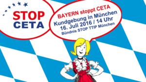 Bayerischer Widerstand gegen CETA im Chor mit vielen Städten und Regionen in ganz Europa