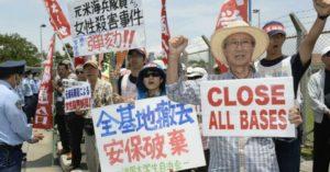 Giappone: oltre 50.000 cittadini di Okinawa protestano contro i militari statunitensi