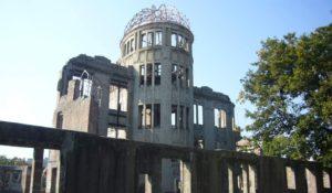 'No More Hiroshimas. No More Nagasakis. Never Again'