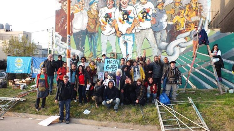 Nuevo mural por la libertad de Milagro Sala en La Pampa