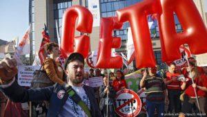 Massenprotest gegen CETA