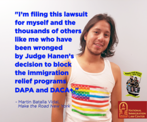New York Dreamer Challenges Nationwide Immigration Injunction