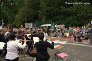 Konzert gegen Drohnen in Stuttgart: AFRICOM über Stunden blockiert