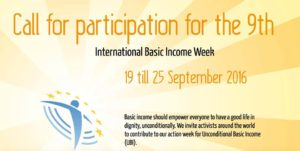 Mach mit! 9. Internationale Woche des Grundeinkommens