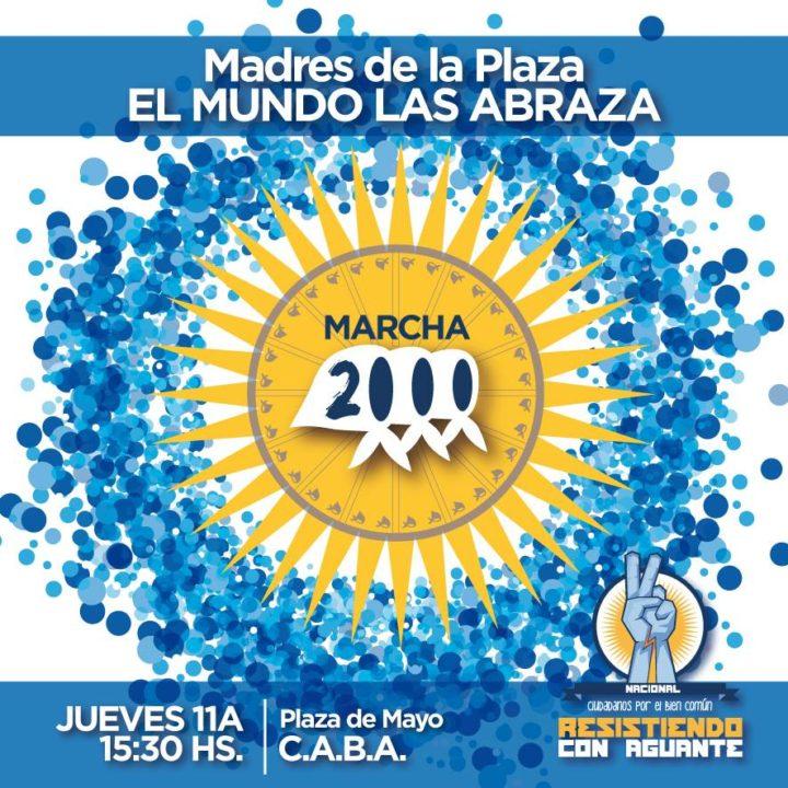 Madres de Plaza de Mayo realizó su histórica Marcha de los jueves, número 2000