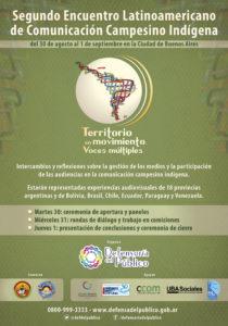 II Encuentro Latinoamericano de Comunicación Campesino Indígena tendrá lugar en Buenos Aires a partir del 30 de agosto