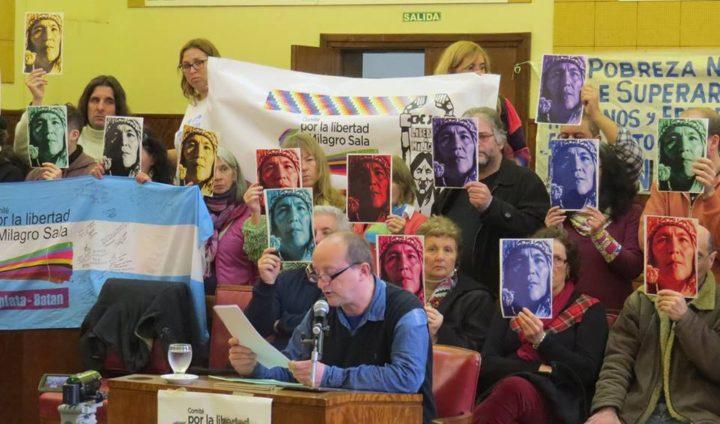 Comité por la Libertad de Milagro Sala ocupó la Banca 25 del Concejo Deliberante de Mar del Plata