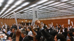 Majority of UN members declare intention to negotiate ban on nuclear weapons in 2017