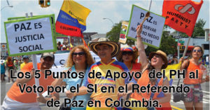 HP's 5 Points in Support of the YES Vote in the Colombia's Peace Process Referendum