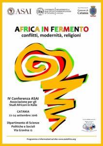 Conferenza Asai  Africa in fermento: conflitti, modernità, religioni e libertà di ricerca