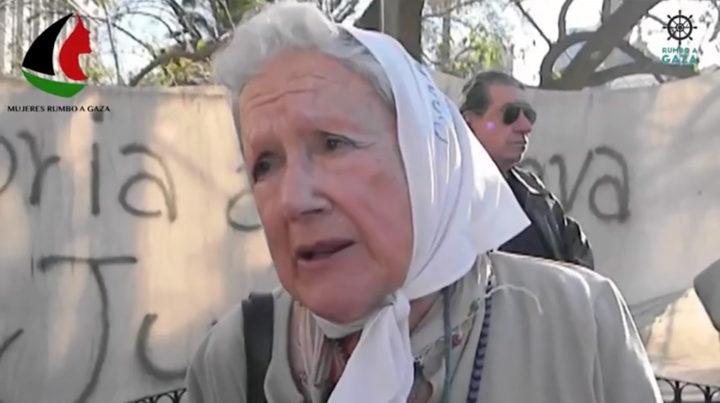 Madres de la Plaza de Mayo support Women's Boat to Gaza