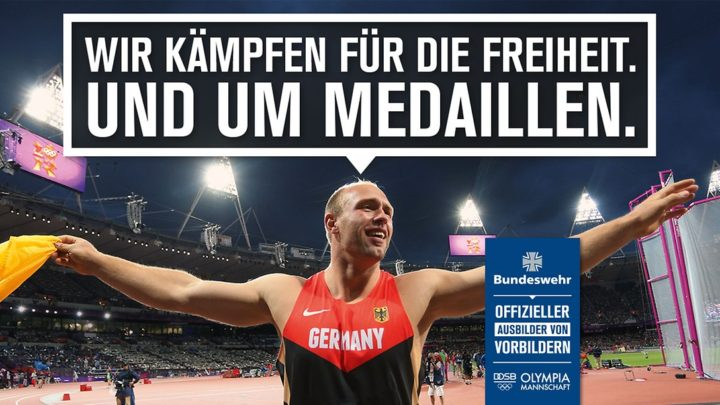 We fight for freedom and for medals. German Armed Forces - Official instructor of role models.
