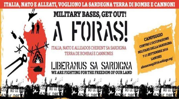 A Foras Camp: contro l'occupazione militare della Sardegna