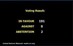 Cuba : Vote sur la résolution «Nécessité de lever le blocus de Cuba»
