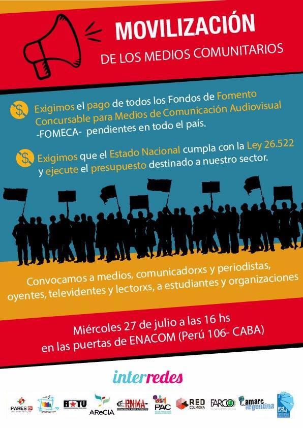 #EnacomNoCumple: Redes de medios comunitarios se movilizan para reclamar por los incumplimientos del Estado