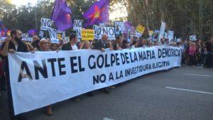 """España: """"Ante el golpe de la mafia, democracia"""""""