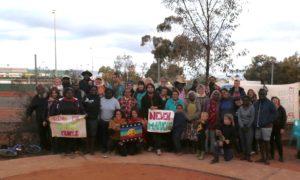 Aborígenes solidarizan con Pueblo Mapuche en el Día de la Raza