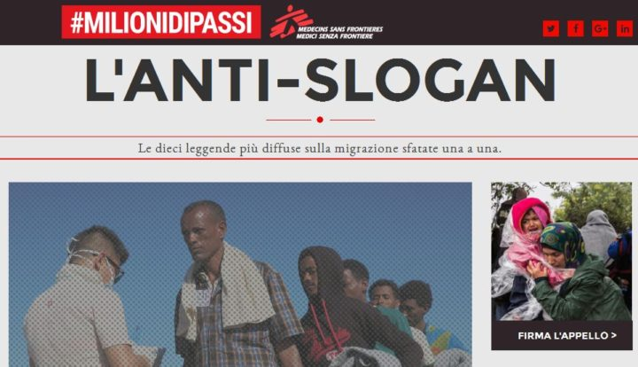 MSF lancia l'Anti-slogan: web interattivo per l'accoglienza