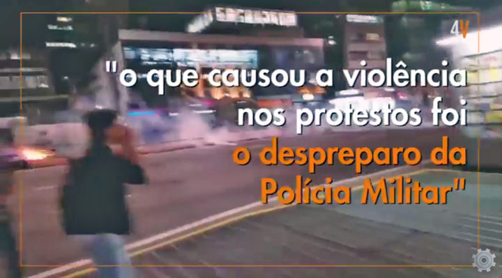 Polícia militar não pode mais usar balas nas manifestações em SP