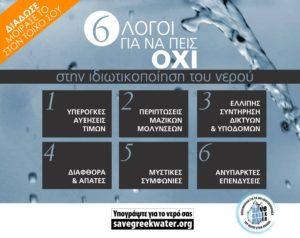 Save Greek Water: Έτσι θα ακυρωθεί η ιδιωτικοποίηση των ΕΥΑΘ και ΕΥΔΑΠ