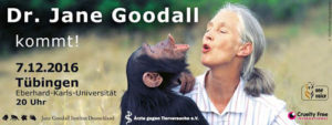 Dr. Jane Goodall spricht in Tübingen