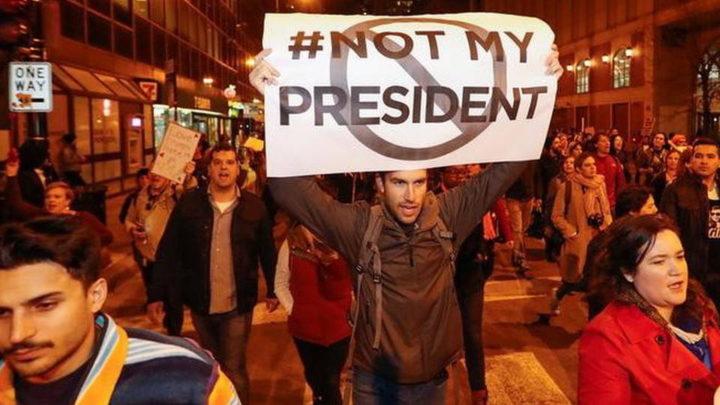 """""""Trump no es nuestro presidente!"""" ¿La Clinton en cambio si?"""