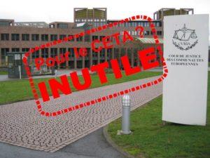 Le Parlement européen ne vérifiera pas la légalité du CETA