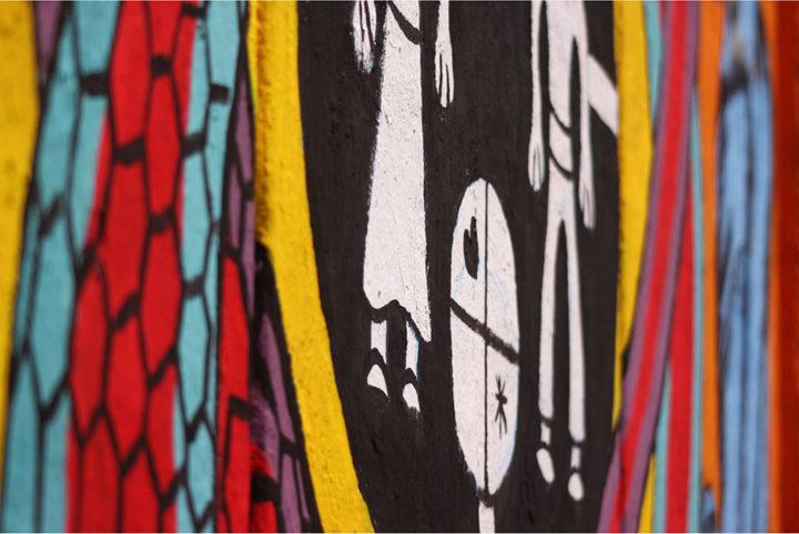 Mural en el centro de Bariloche. Foto Gustavo Figueroa.