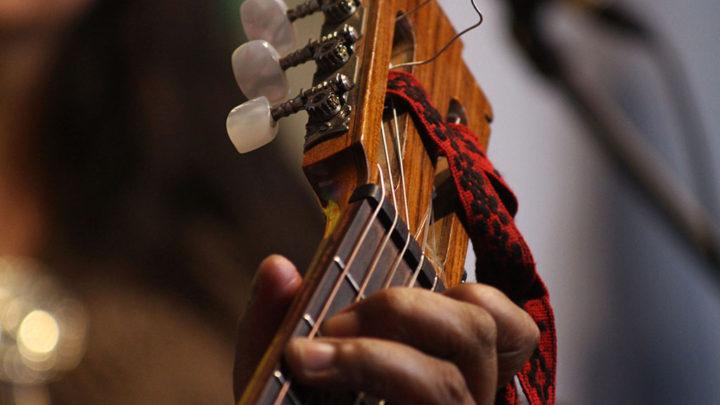 La guitarra de Rodolfo Cancino. Foto Gustavo Figueroa.