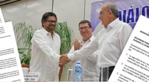 Comunicado conjunto | Firma del Acuerdo final en Colombia
