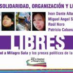 Raúl Noro e outros três presos da Tupac Amaru são libertados