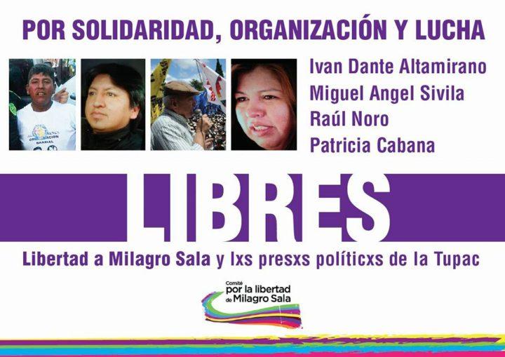 Liberan a Raúl Noro y otros tres detenidos de la Tupac Amaru