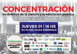 En Córdoba convocan a movilizarse en defensa de la ciencia y la educación pública