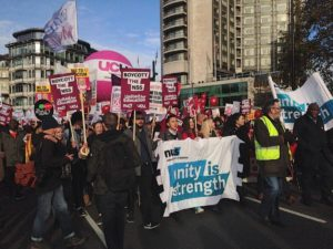 Protest against education cuts in London