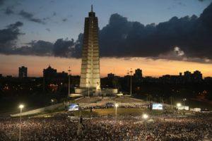 Los discursos en la Plaza de la Revolución