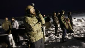 Military veterans arrive at North Dakota pipeline protest