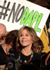 Los Angeles, Jane Fonda divests from Wells Fargo, one of the major investors in the Dakota Access Pipeline